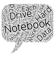 Notebook Hard Drive Recovery text background vector image vector image