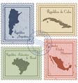 postal stamps vector image
