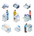 printing house equipment printer plotter offset vector image