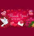 rsvp wedding thank you card reply on respond vector image