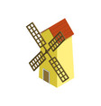 rural windmill isometric 3d element vector image