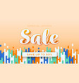 sale save up to 50 percent orange background vector image