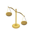 scales of justice isometric 3d elements vector image