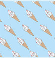 seamless endless texture with sketch ice cream vector image vector image