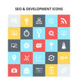seo and development icons vector image vector image