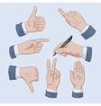 set business man hands vector image