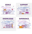 set of banners with goals support vector image vector image