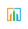 skyscraper building logo image vector image
