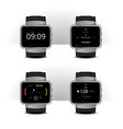 smart watch with digital display set vector image