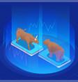 stock exchange financial market trading vector image vector image