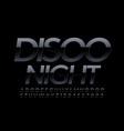 stylish logo disco night chic black font vector image