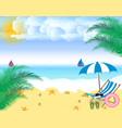 summer holidays beach seashore beach chair vector image