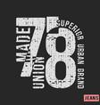 superior urban brand t-shirt print design vector image vector image