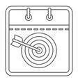 target calendar icon outline style vector image