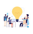 teamwork concept creative idea working process vector image vector image
