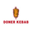 template icon logo for doner kebab vector image vector image