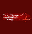 text lettering happy valentines day banners vector image vector image