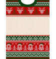 ugly sweater merry christmas party invite vector image