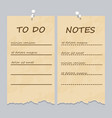 vintage ripped pages for to do list and notes vector image vector image
