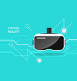 virtual reality headset poster vector image
