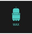 Wax green icon vector image