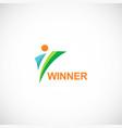 winner logo vector image vector image