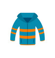 winter jacket icon flat style vector image vector image