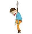 Hanging punishment vector image