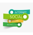 social theme tag cloud of stickers vector image