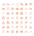 49 beach icons vector image vector image