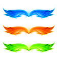 abstract wings set on white background vector image vector image