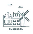 amsterdam line icon amsterdam outline vector image vector image