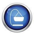 Baby hanged cradle icon vector image vector image