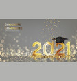banner for design graduation 2021 vector image