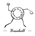 baseball game cartoon character of a vector image