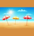 beach with umbrellas vector image vector image