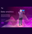 big data analitics isometric design concept man vector image vector image