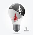 businessman up ladder paper light bulb vector image vector image