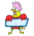 Collection of rooster character Chinese vector image