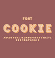 cookie font alphabet vector image vector image