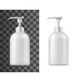 cosmetic blank bottle with dispenser vector image vector image