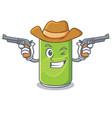 cowboy soft drink character cartoon vector image vector image