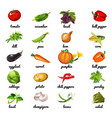 cute poster on topic of healthy diet vegetables vector image vector image