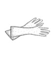 Detailed sketch of gloves for cleaning vector image vector image