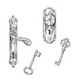 door handles and keys vector image