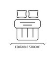 double bed set linear icon vector image vector image