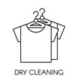 dry cleaning service company shirts on hangers vector image