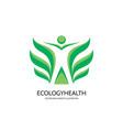 ecology logo template concept vector image vector image