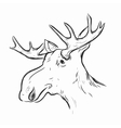 Elk Deer Mascot Head vector image