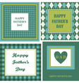 fathers day cards set vector image vector image